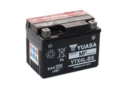 Yuasa YTX4L-BS battery size 114 x 71 x 86 mm