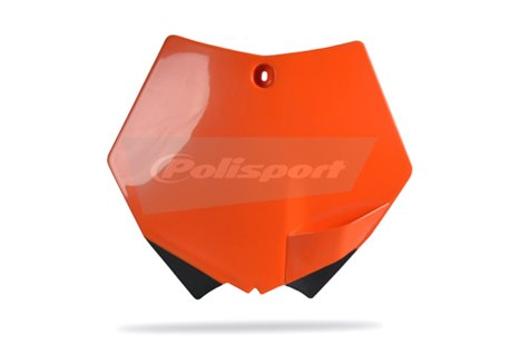 Polisport  front number plate color orange