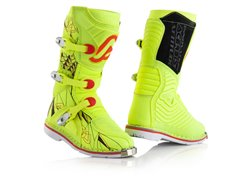 Acerbis Shark 2017 kid boots color yellow fluo