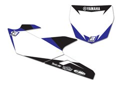 Blackbird stickers number plate color white