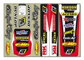 Blackbird   universal stickers fender + swing arm color red