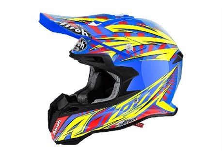 Airoh Terminator 2.1 Lightning 2016 helmet color blue
