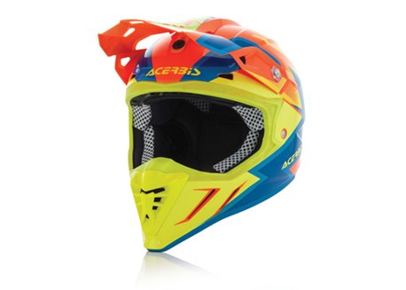 Acerbis Profile 3.0 SnapDragon 2017 helmet color orange fluo