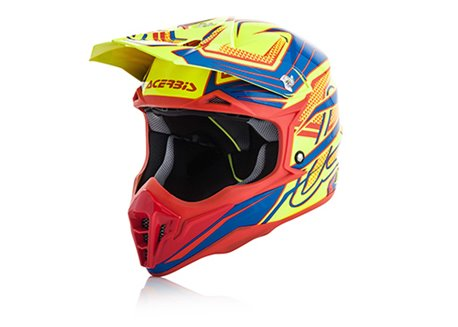 Acerbis Impact 3.0 2017 helmet color yellow/blue