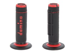 Domino  Off-road grips color black / red