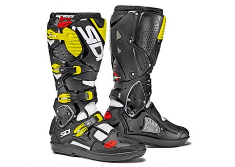 Sidi  Crossfire Srs 3 boots color black/yellow fluo