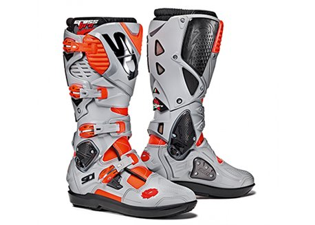 Sidi  Crossfire Srs 3 boots color red fluo / gray