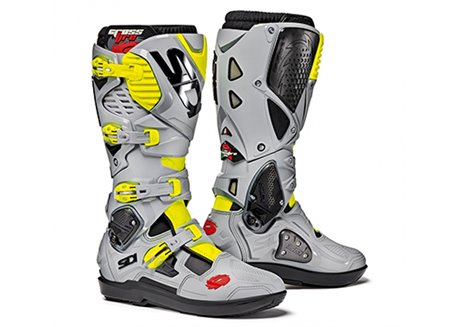 Sidi  Crossfire Srs 3 boots color gray/yellow fluo