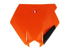 Ufo front number plate color orange