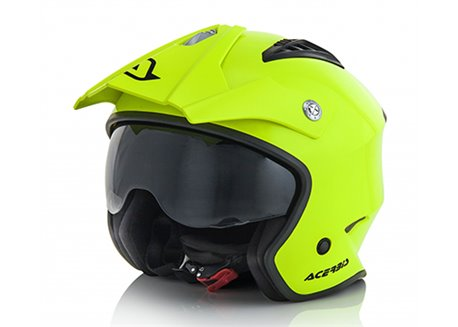 Acerbis Jet Aria helmet color yellow fluo