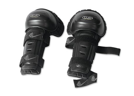Ufo  thermoformed knee guards color black