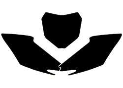Blackbird  stickers number plate color black