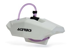 Acerbis  2,1 liter fuel tank bar mounted color white