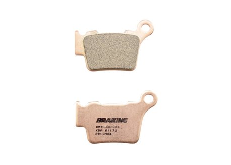 Braking rear brake pads sintered color gold size 64x41,8x9