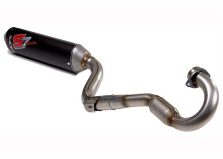 Dep single tube with exit on the left exhaust system pipes 4 stroke