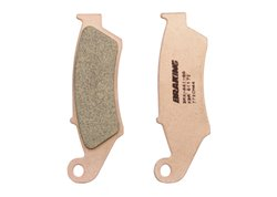 Braking front brake pads sintered color gold