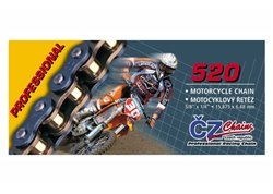 Cz Professional 520 pitch transmission chain color gold