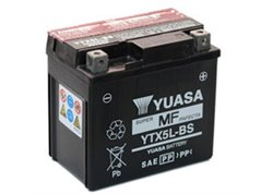 Yuasa YTX5L-BS battery size 114 x 71 x 106 mm