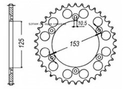 Sifam rear sprockets Steel