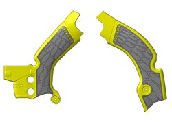 Acerbis frame guards color yellow / gray