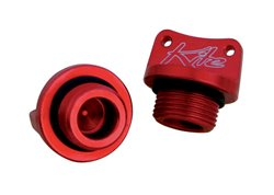 Kite billet oil cap color red