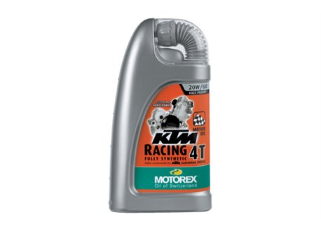 Motorex Ktm racing synthetic 4-stroke engine oil size 20w60