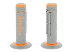 Domino  Off-road grips color orange / gray