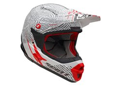 Scott  Identity helmet color red / white