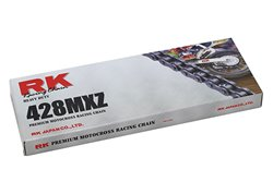 Rk Mxz pitch 428 142 links Racing transmission chain color black