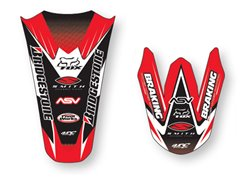 Arc Design stickers fender color red