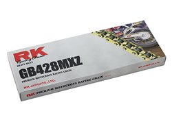 Rk Gb Mxz pitch 428 142 links Racing transmission chain color gold link chain 142