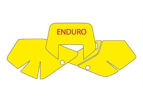 Blackbird stickers number plate color yellow